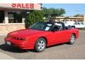 Bright Red 1992 Oldsmobile Cutlass Supreme Convertible