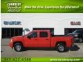 2009 Victory Red Chevrolet Silverado 1500 LT Crew Cab 4x4  photo #1