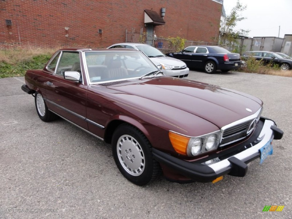 cabernet red 1986 mercedes benz sl class 560 sl roadster exterior photo 56684962. Black Bedroom Furniture Sets. Home Design Ideas