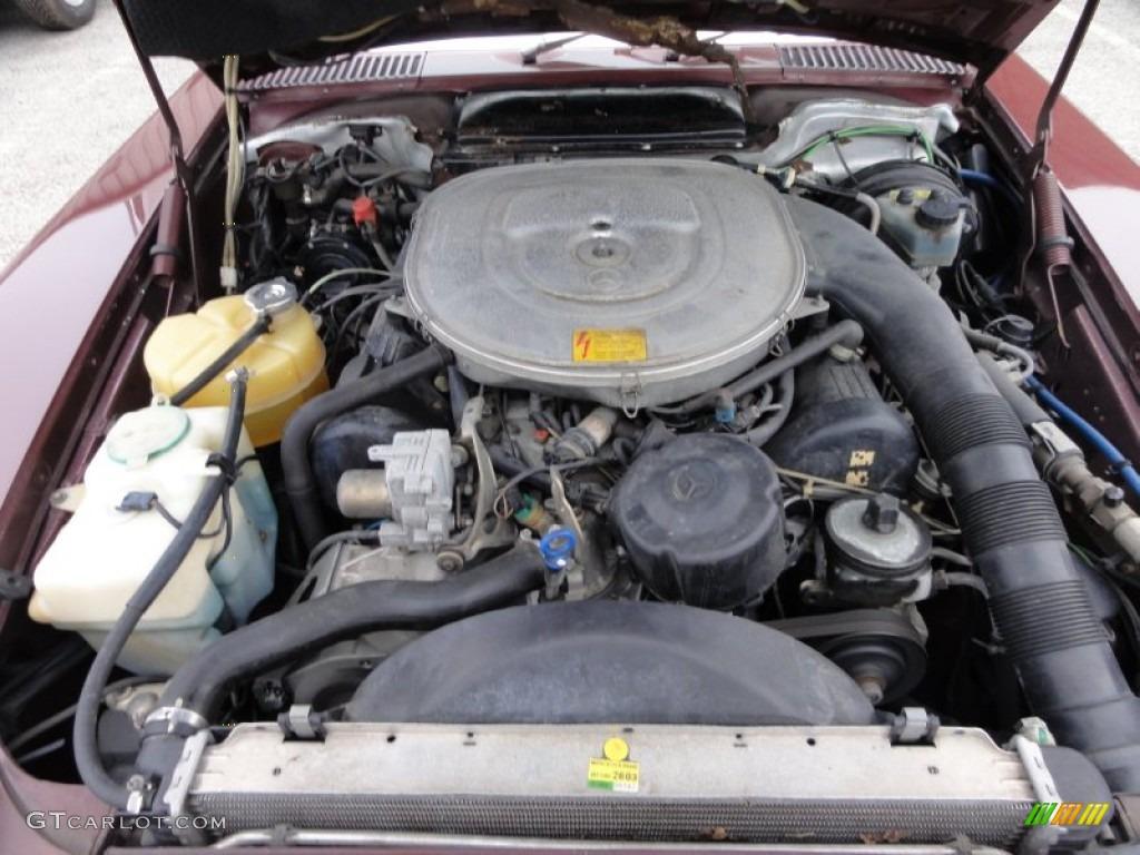 1986 mercedes benz sl class 560 sl roadster 5 6 liter sohc for Mercedes benz v8 engine