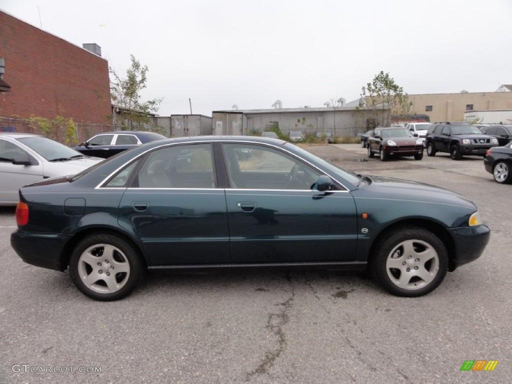 emerald pearl metallic 1996 audi a4 2.8 quattro sedan exterior