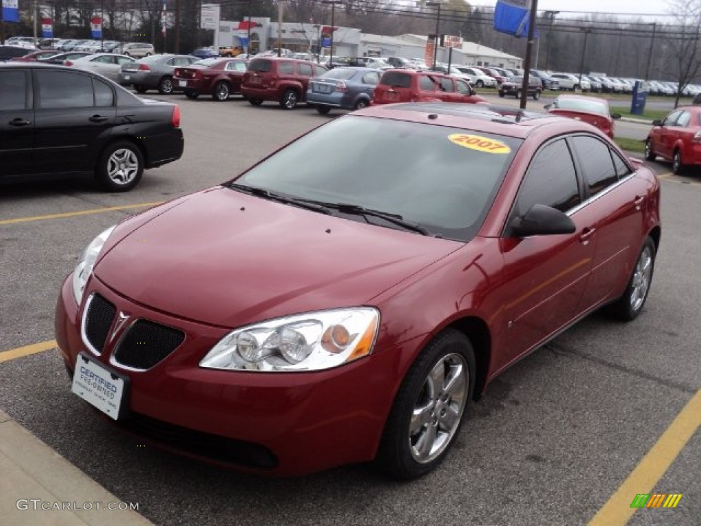 2007 Performance Red Metallic Pontiac G6 Gt Sedan