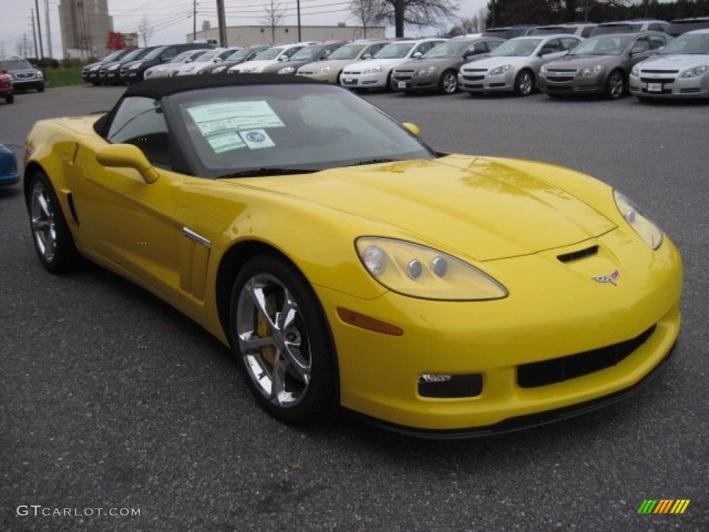 velocity yellow 2012 chevrolet corvette grand sport convertible exterior photo 56695048. Black Bedroom Furniture Sets. Home Design Ideas