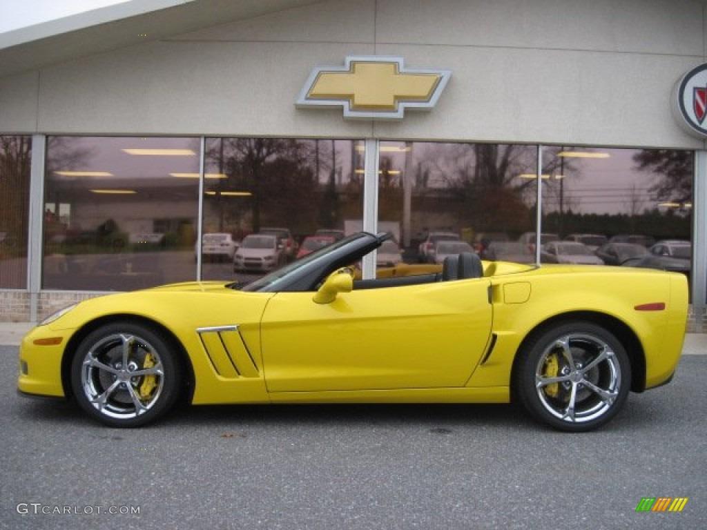 velocity yellow 2012 chevrolet corvette grand sport convertible exterior photo 56695079. Black Bedroom Furniture Sets. Home Design Ideas