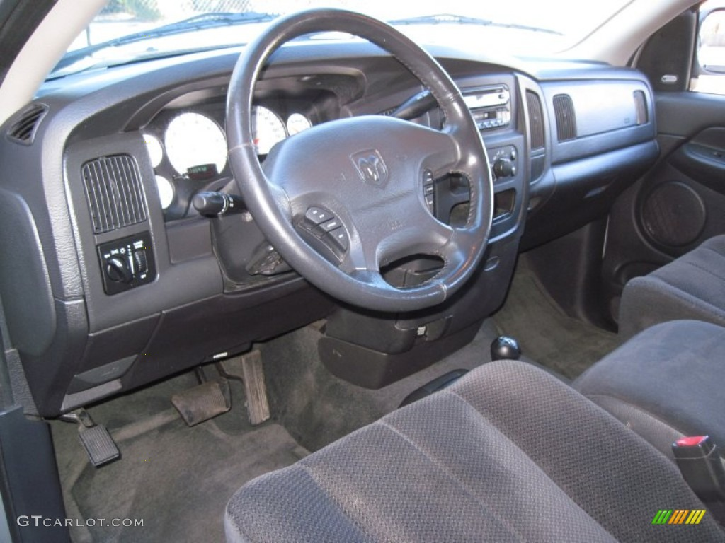 2002 Ram 1500 ST Quad Cab 4x4 - Bright Silver Metallic / Dark Slate Gray photo #16