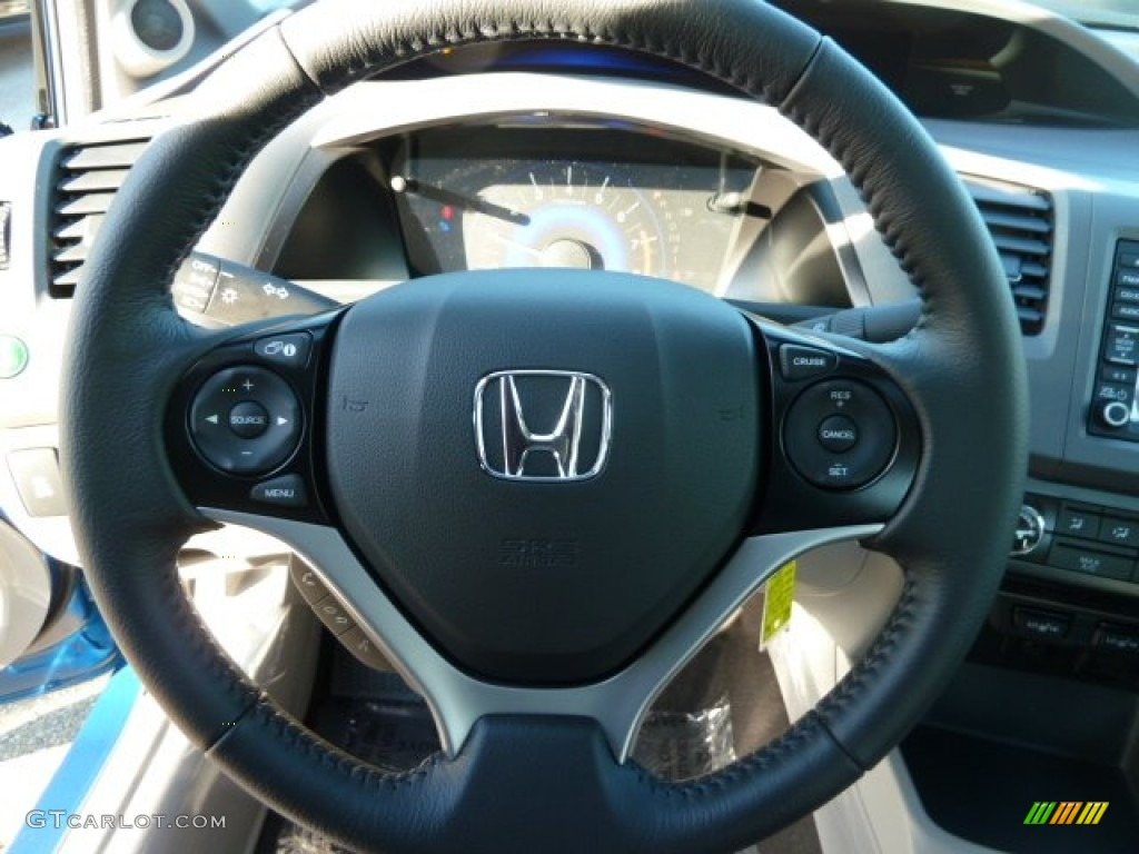 2012 honda civic ex l sedan gray steering wheel photo. Black Bedroom Furniture Sets. Home Design Ideas
