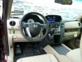 2012 Honda Pilot Beige Interior Dashboard Photo