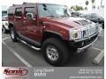 Red Metallic 2005 Hummer H2 SUV