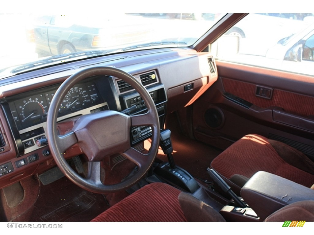 Red interior 1990 nissan pathfinder se 4x4 photo 56743947 gtcarlot com