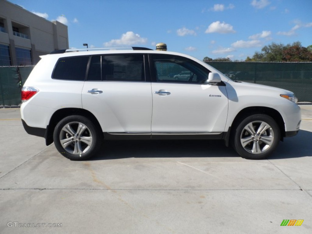 blizzard white pearl 2012 toyota highlander limited exterior photo 56744562. Black Bedroom Furniture Sets. Home Design Ideas