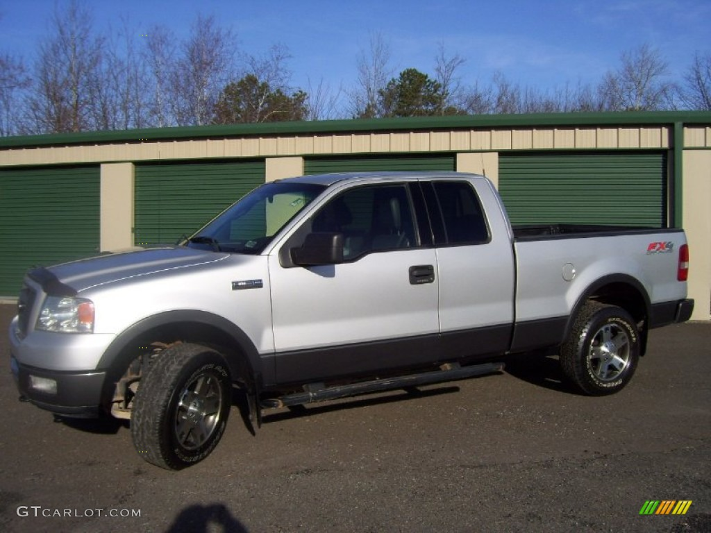2004 f150 fx4 supercab 4x4 silver metallic black photo 1