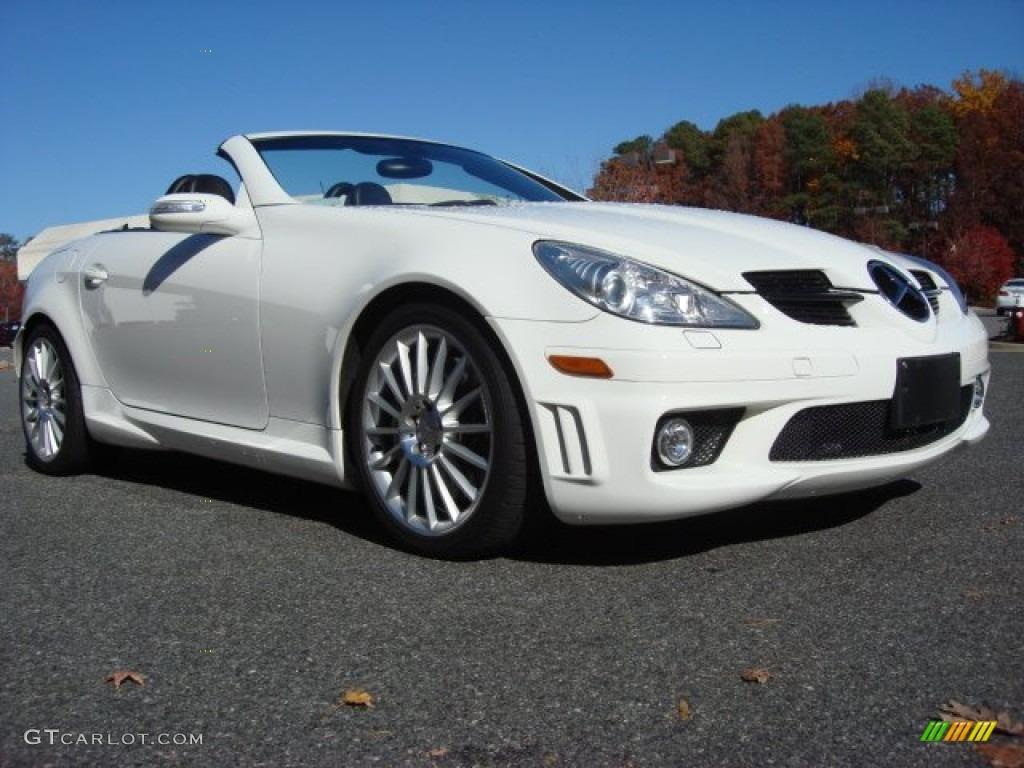 Alabaster white 2006 mercedes benz slk 55 amg roadster for Mercedes benz white paint