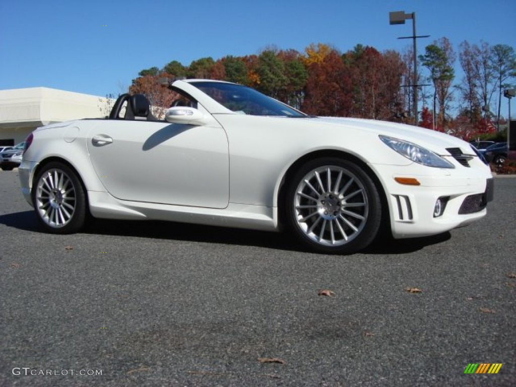 alabaster white 2006 mercedes benz slk 55 amg roadster. Black Bedroom Furniture Sets. Home Design Ideas