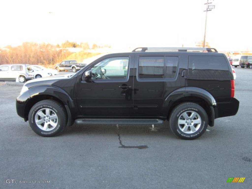 Super Black 2012 Nissan Pathfinder SV 4x4 Exterior Photo ...