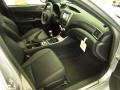 STi front seats in carbon black leather