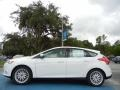 2012 White Platinum Tricoat Metallic Ford Focus SEL 5-Door  photo #2