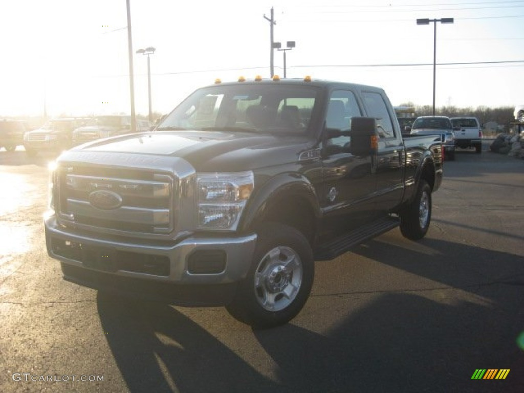 2012 F250 Super Duty XLT Crew Cab 4x4 - Black / Adobe photo #1