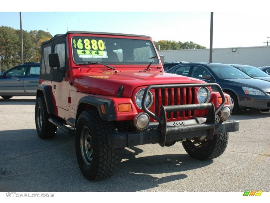 Flame Red Jeep Wrangler. Jeep Wrangler Sport 4x4