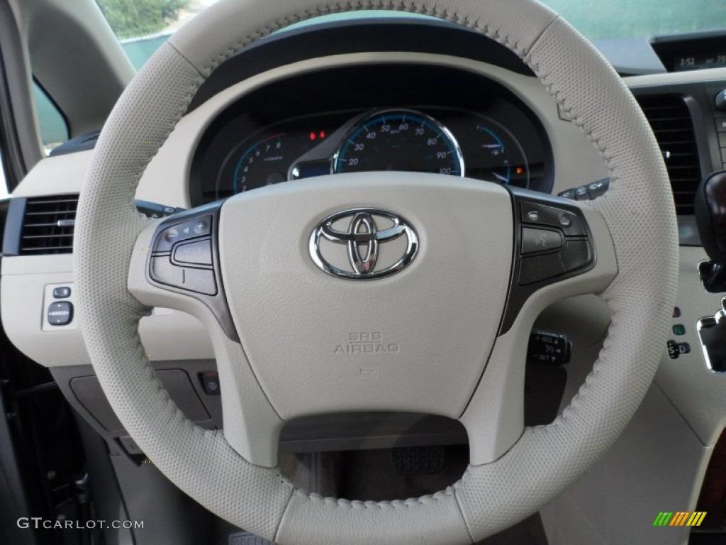 2012 Toyota Sienna Xle Bisque Steering Wheel Photo