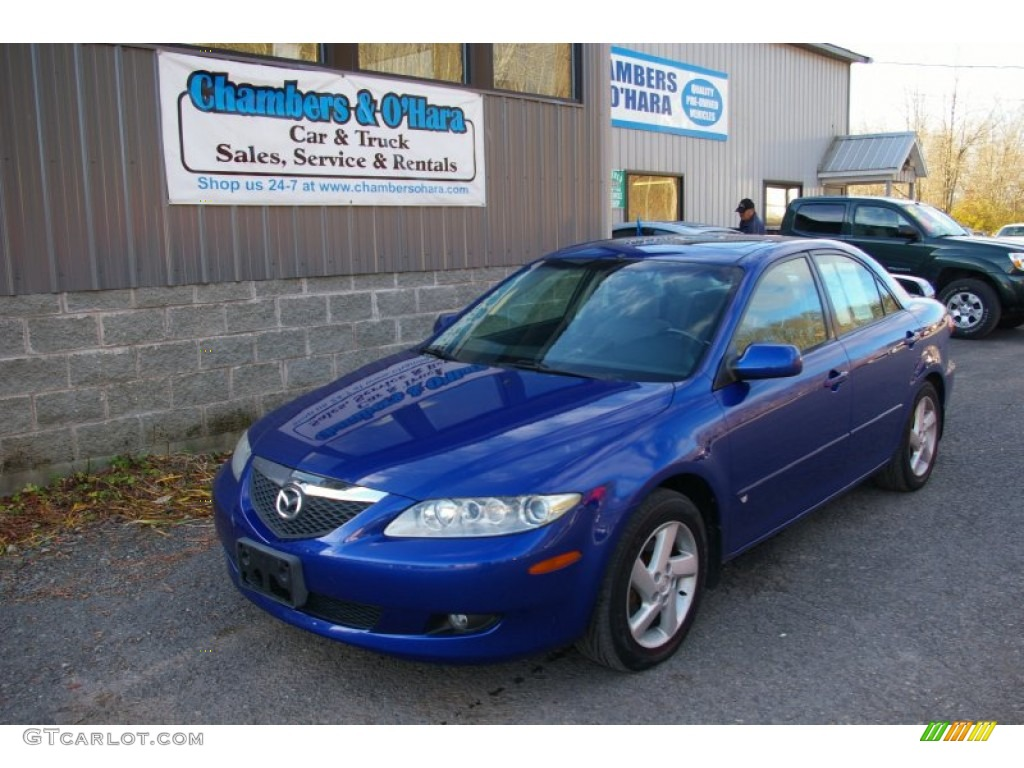 2003 sonic blue pearl mazda mazda6 s sedan 56789402 car color galleries. Black Bedroom Furniture Sets. Home Design Ideas
