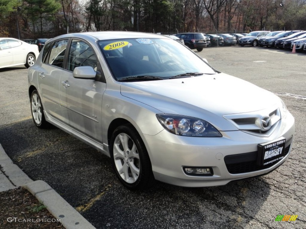 sunlight silver metallic 2008 mazda mazda3 s touring hatchback exterior photo 56815093. Black Bedroom Furniture Sets. Home Design Ideas