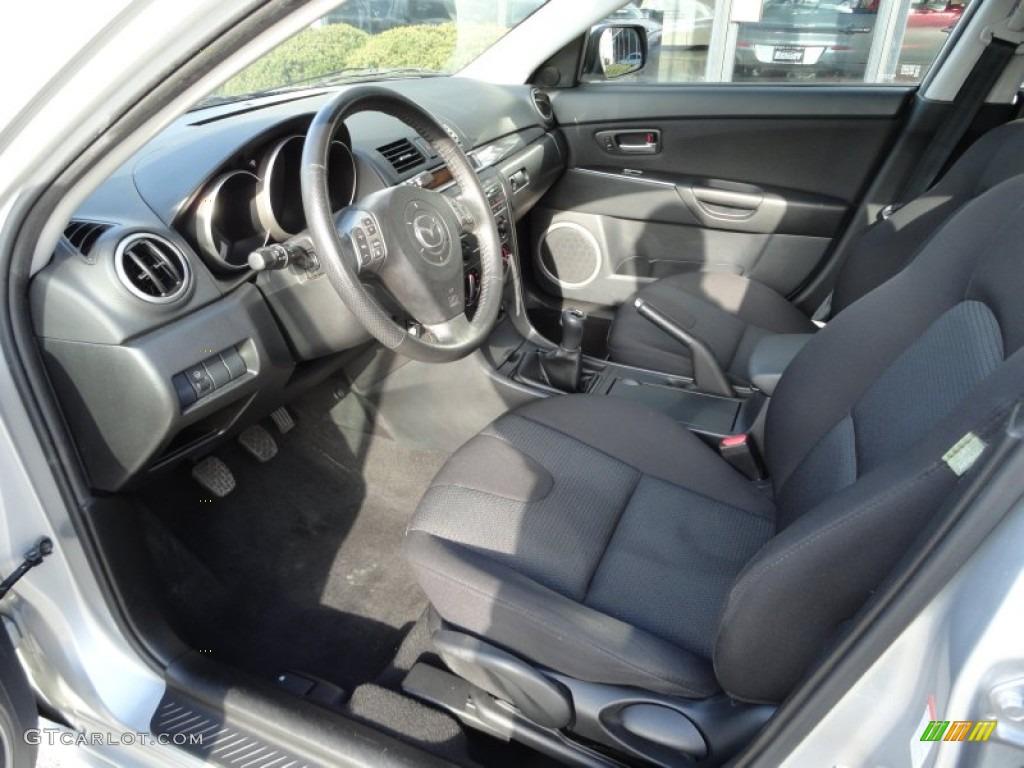 Black Interior 2008 Mazda Mazda3 S Touring Hatchback Photo 56815195