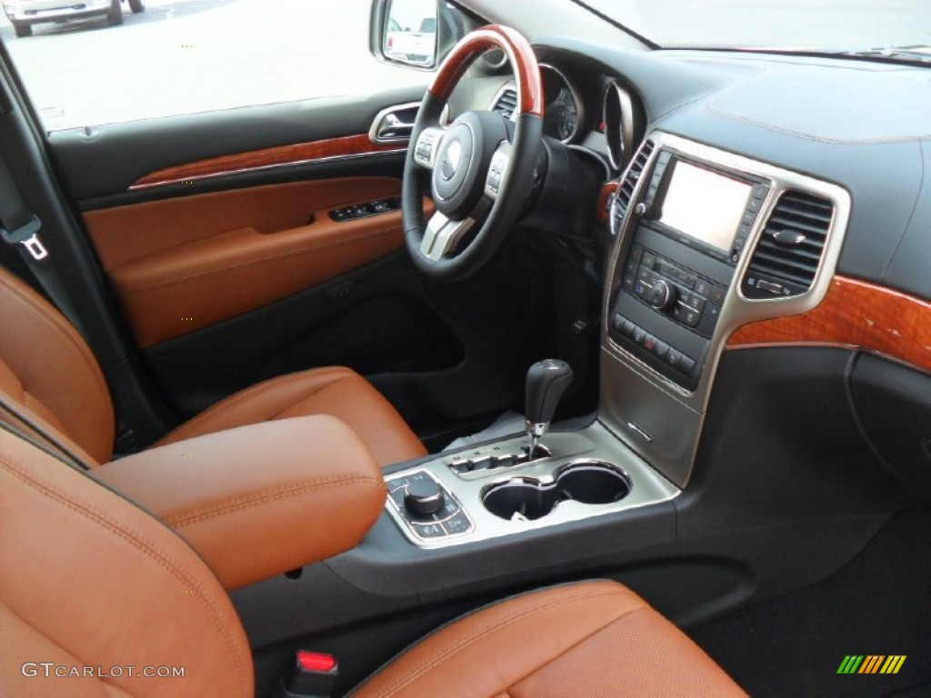 new saddle black interior 2012 jeep grand cherokee overland 4x4 photo 56822059. Black Bedroom Furniture Sets. Home Design Ideas