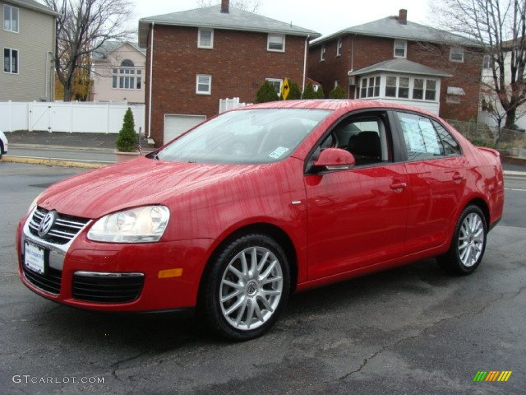 2009 salsa red volkswagen jetta wolfsburg edition sedan. Black Bedroom Furniture Sets. Home Design Ideas