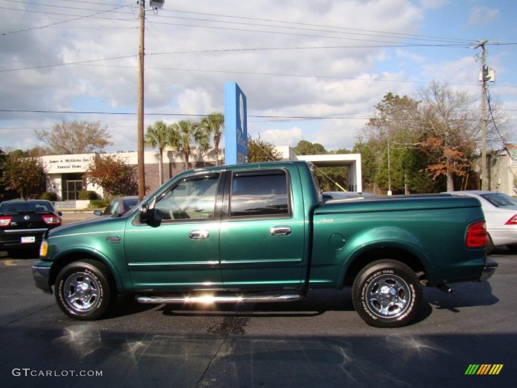 2001 Amazon Green Metallic Ford F150 Lariat SuperCrew 56827806 Photo 5 GT