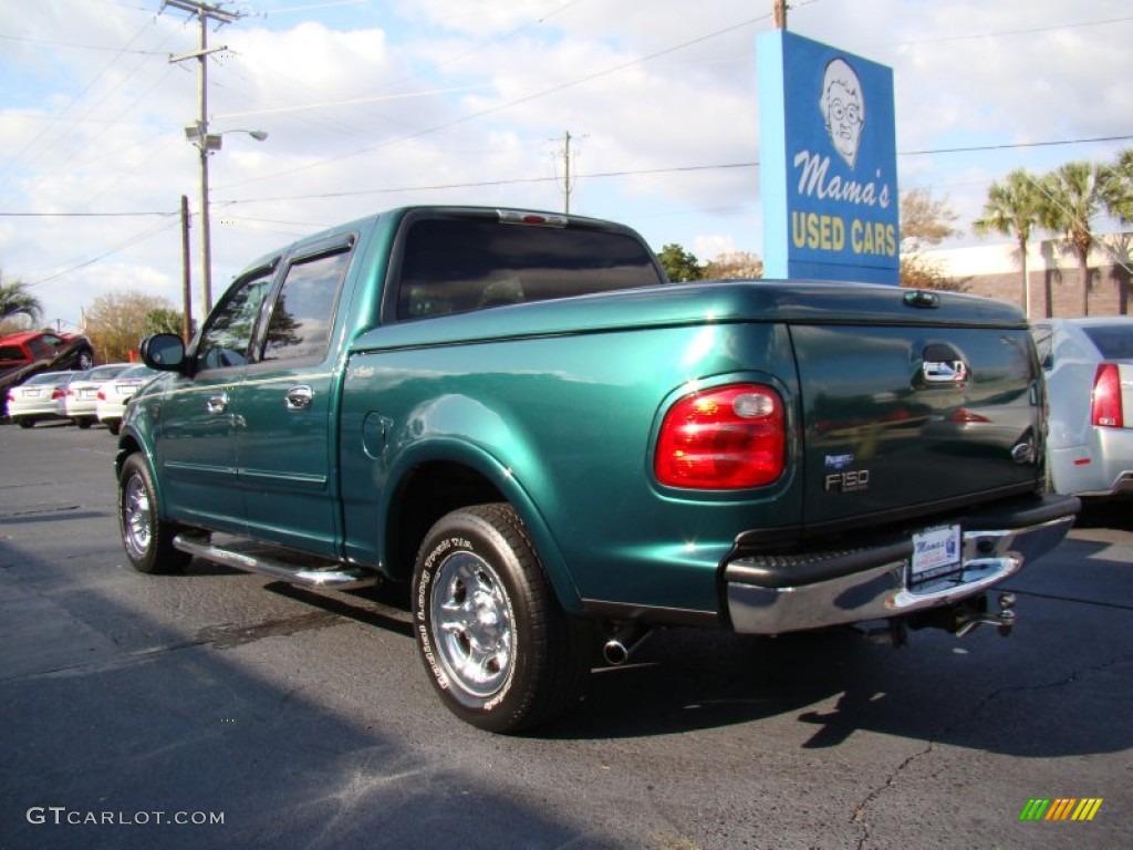 2001 Amazon Green Metallic Ford F150 Lariat SuperCrew 56827806 Photo 6 GT