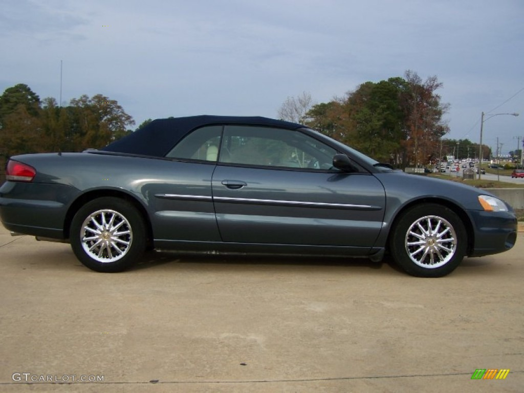 steel blue pearl 2002 chrysler sebring limited convertible exterior. Cars Review. Best American Auto & Cars Review
