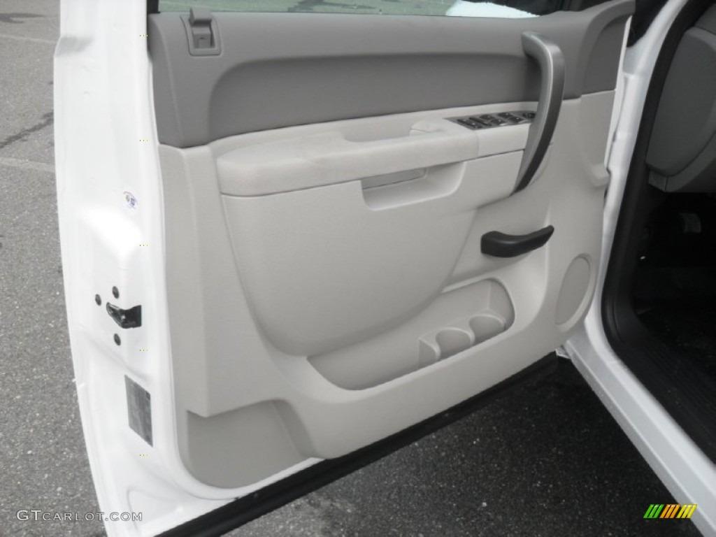 2012 Silverado 1500 Work Truck Extended Cab - Summit White / Dark Titanium photo #9