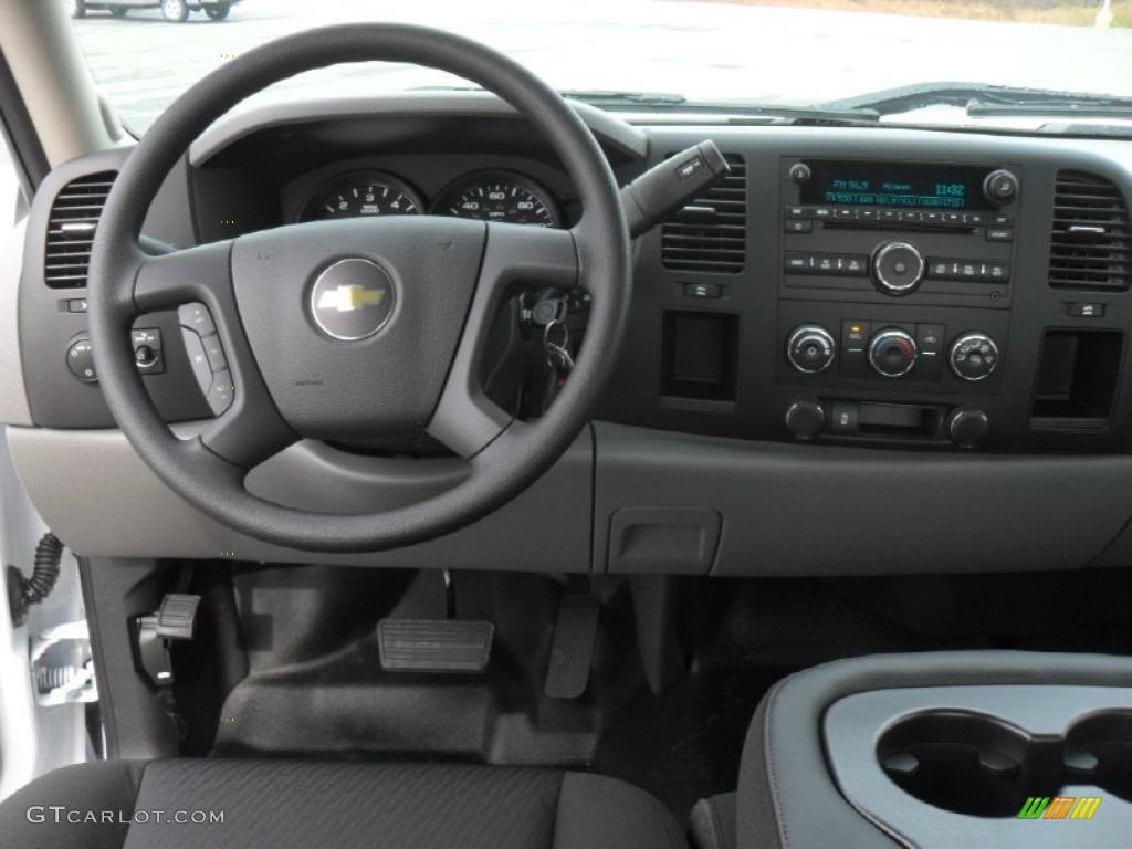 2012 Silverado 1500 Work Truck Extended Cab - Summit White / Dark Titanium photo #14