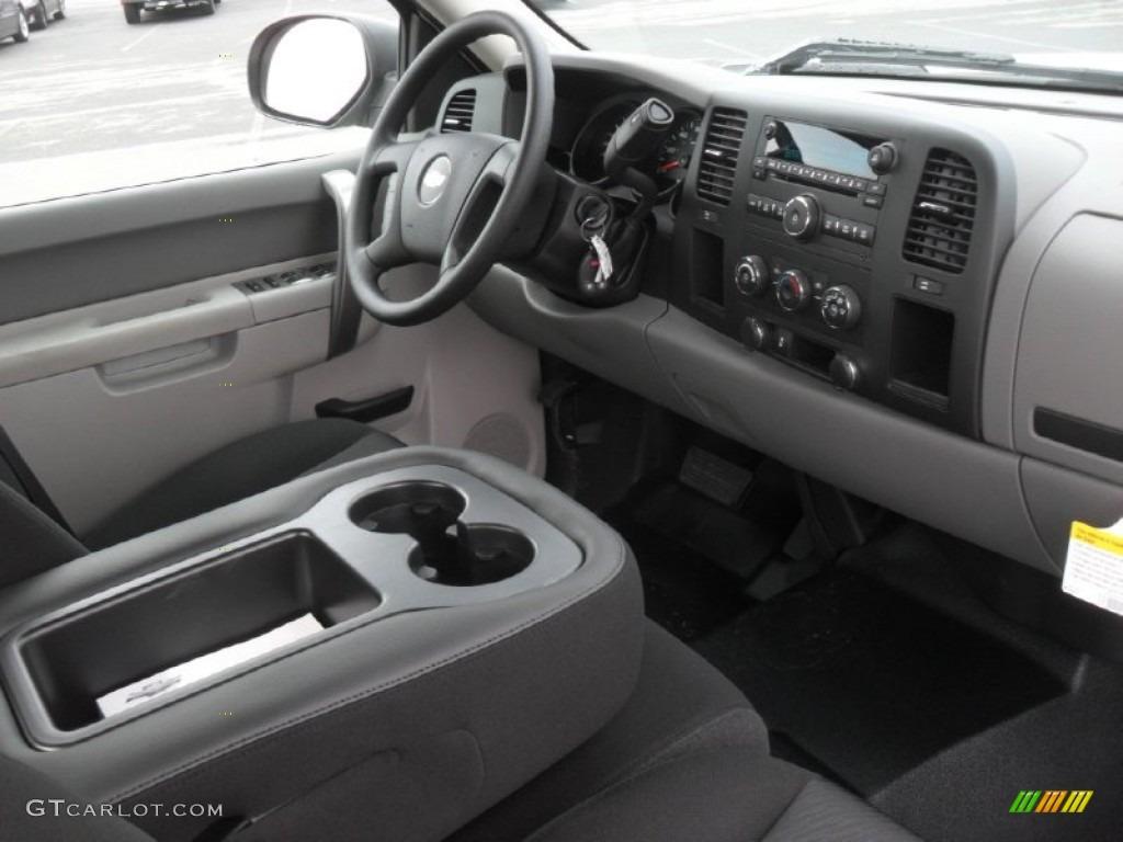 2012 Silverado 1500 Work Truck Extended Cab - Summit White / Dark Titanium photo #19