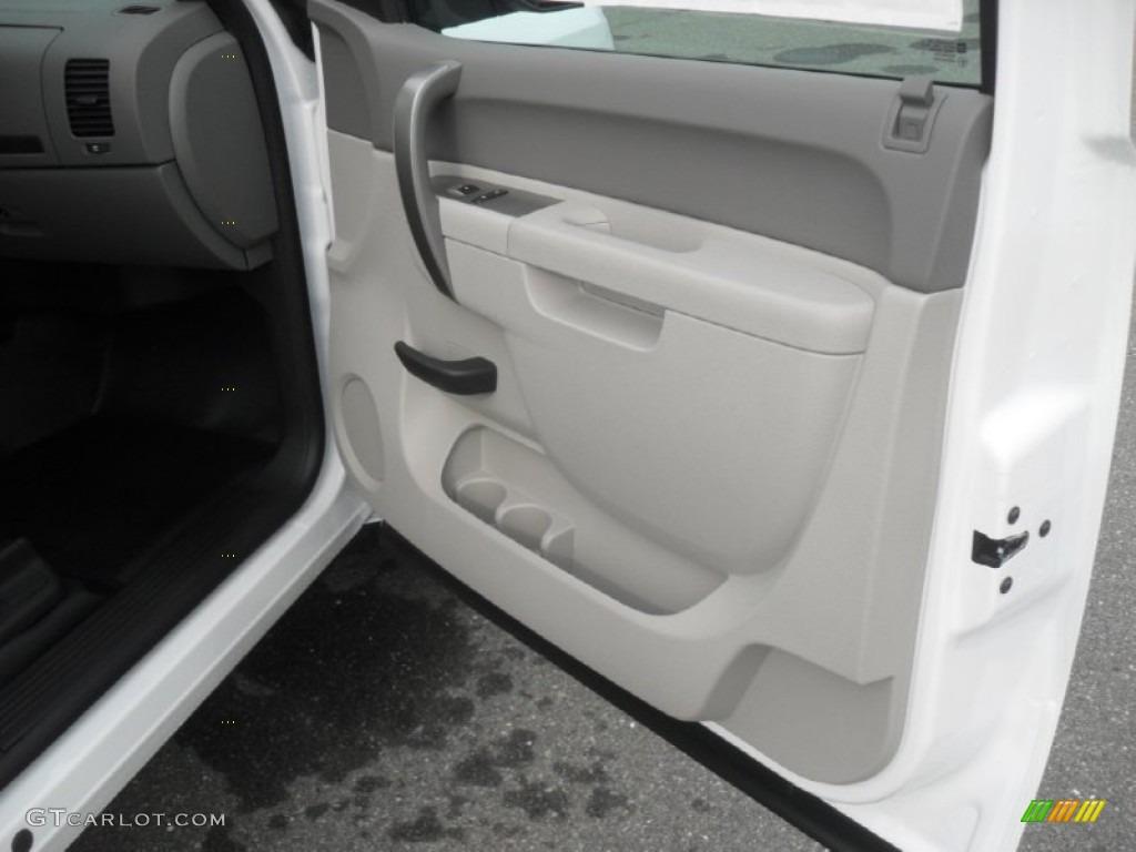 2012 Silverado 1500 Work Truck Extended Cab - Summit White / Dark Titanium photo #20