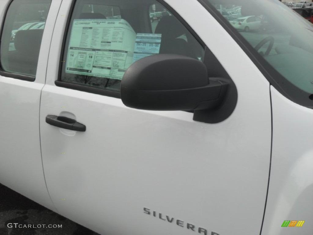 2012 Silverado 1500 Work Truck Extended Cab - Summit White / Dark Titanium photo #21