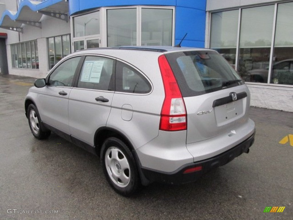 2009 CR-V LX 4WD - Alabaster Silver Metallic / Gray photo #3