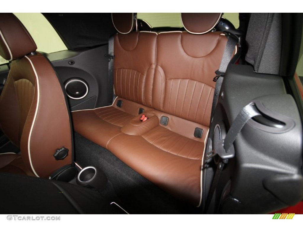 2012 mini cooper s convertible back seats in hot chocolate lounge leather photo 56892556. Black Bedroom Furniture Sets. Home Design Ideas