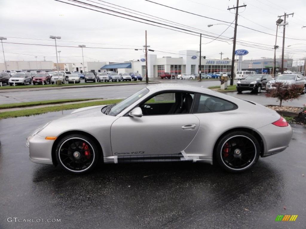 Platinum Silver Metallic 2012 Porsche 911 Carrera 4 Gts Coupe Exterior Photo 56909101