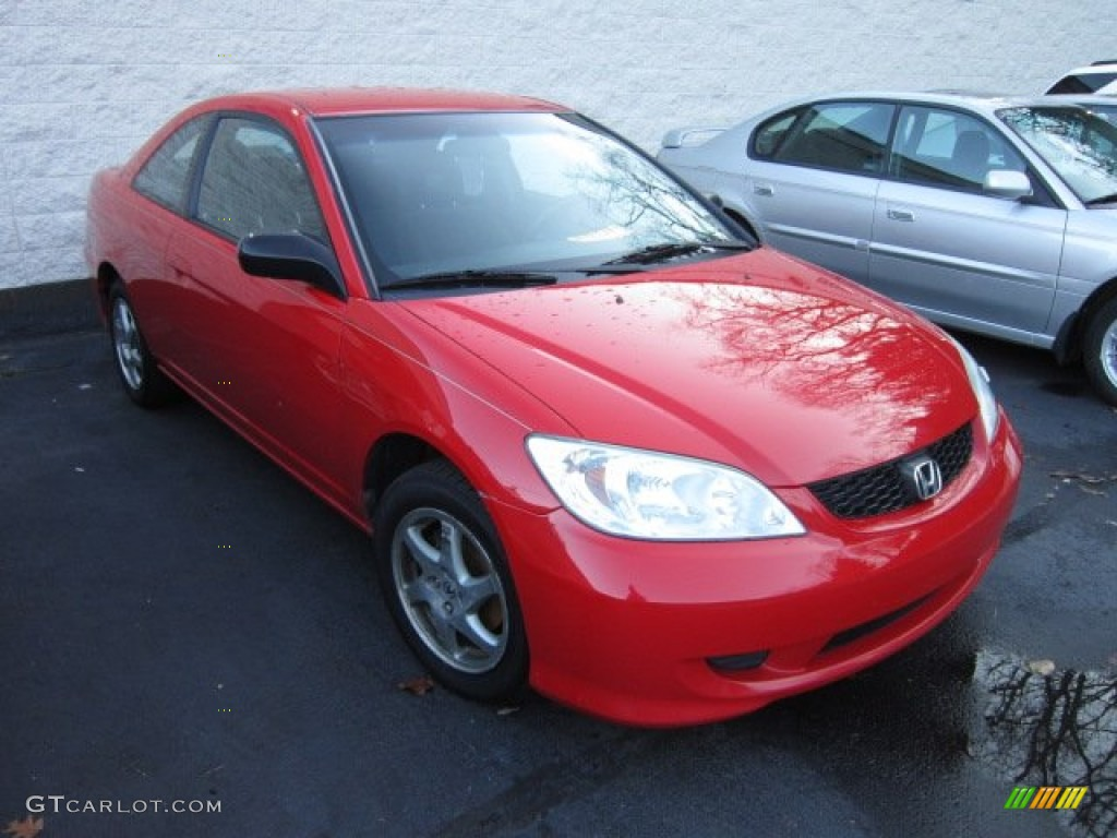 2004 rally red honda civic lx coupe 56873544 car color galleries. Black Bedroom Furniture Sets. Home Design Ideas