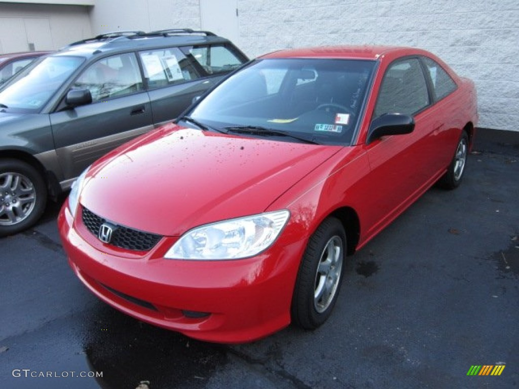 2004 rally red honda civic lx coupe 56873544 photo 3 car color galleries. Black Bedroom Furniture Sets. Home Design Ideas