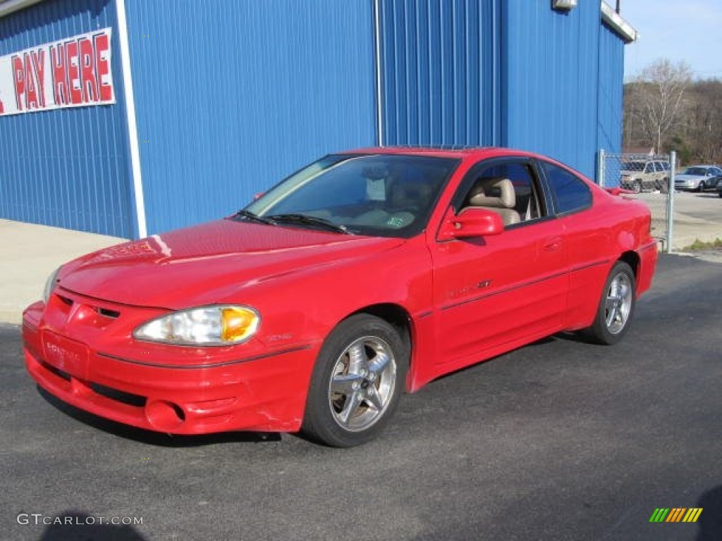 1999 bright red pontiac grand am gt coupe 56935613 gtcarlot com car color galleries gtcarlot com