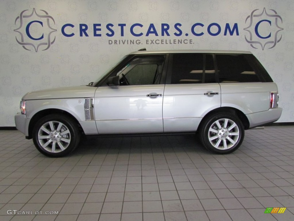 2007 Range Rover Supercharged - Zermatt Silver Metallic / Ivory/Black photo #1