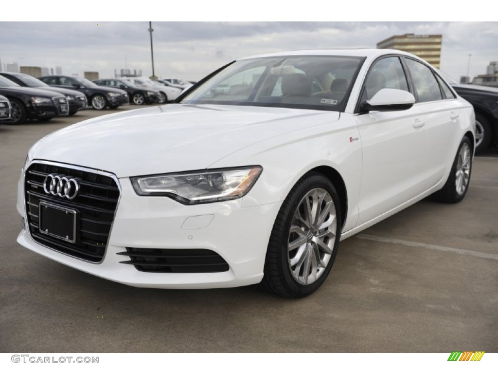 Ibis White 2012 Audi A6 3.0T quattro Sedan Exterior Photo #56941685 on