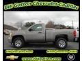 2012 Graystone Metallic Chevrolet Silverado 1500 Work Truck Regular Cab 4x4  photo #1