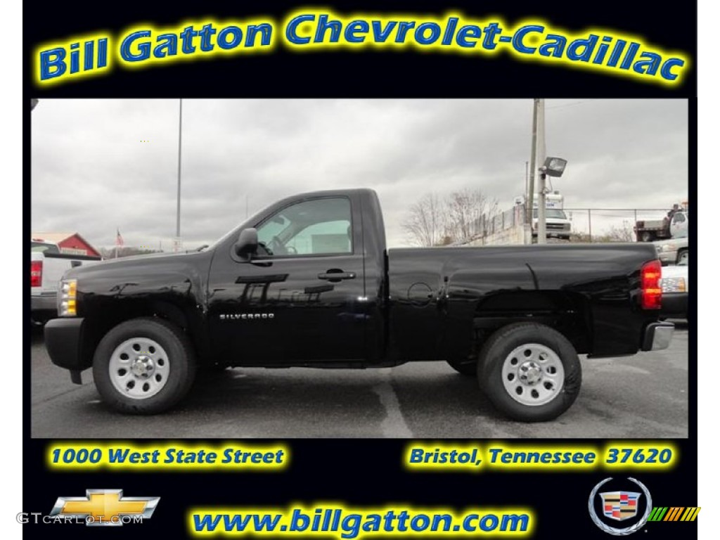 2012 Silverado 1500 Work Truck Regular Cab - Black / Dark Titanium photo #1