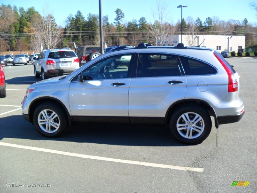 2010 CR-V EX - Alabaster Silver Metallic / Black photo #2