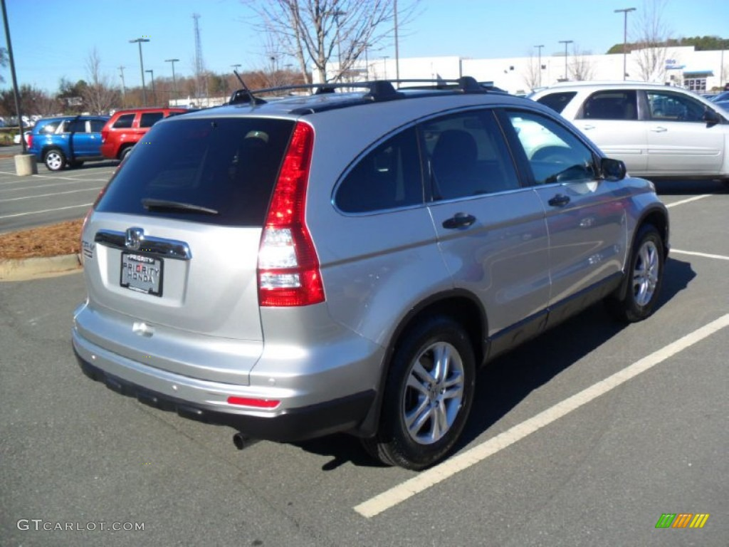 2010 CR-V EX - Alabaster Silver Metallic / Black photo #4