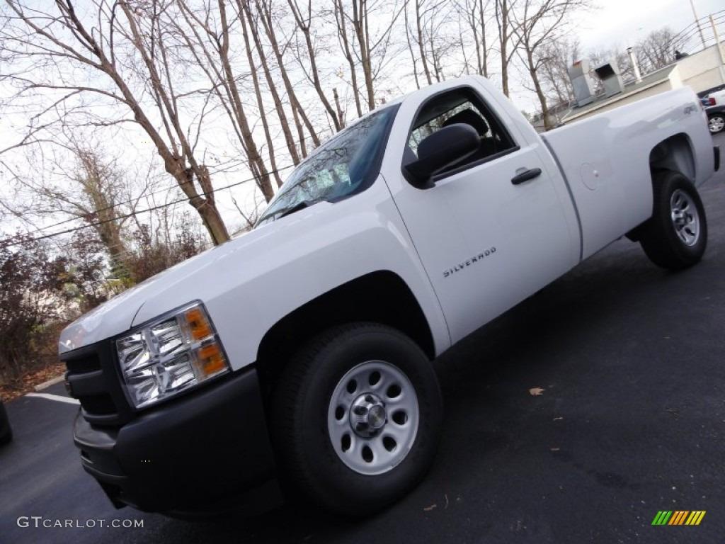 2012 Silverado 1500 Work Truck Regular Cab 4x4 - Summit White / Dark Titanium photo #1