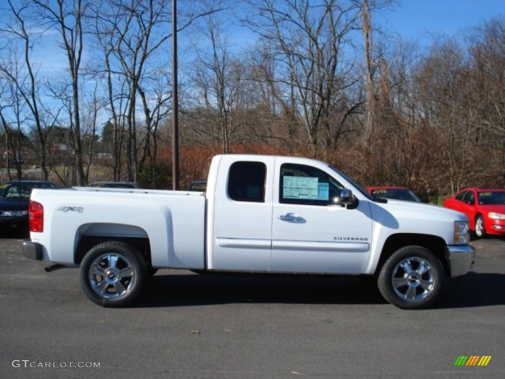 2012 Silverado 1500 LT Extended Cab 4x4 - Summit White / Ebony photo #1